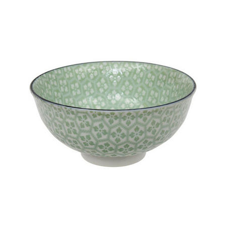 Tea Pattern Bowl Green