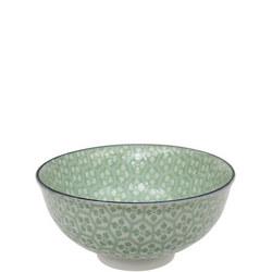 Tea Pattern Bowl Green
