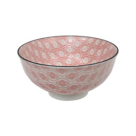 Tea Pattern Bowl Pink