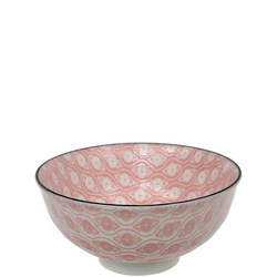 Tea Pattern Bowl Pink