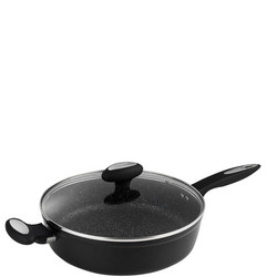 Cook Non-stick Forged Aluminium Sautee Pan with Glass Lid 28cm