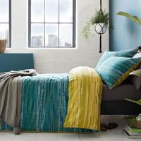 Sula Duvet Set Teal Multicolour