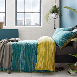 Sula Duvet Set Teal Multicolour