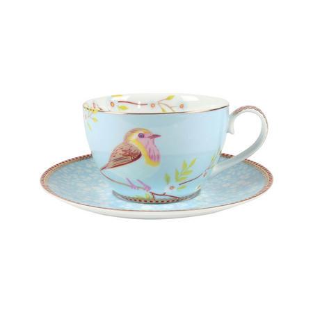 Earlybird Cup & Saucer Blue