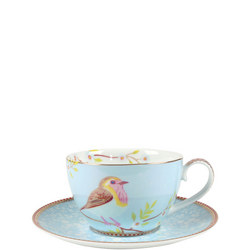 Earlybird Cup & Saucer Blue