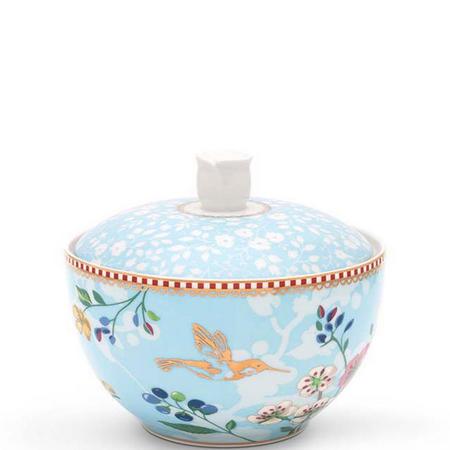 Hummingbirds Bowl Sugarbowl  11cm Blue