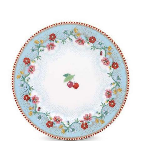 Cherry Side Plate 17cm Blue