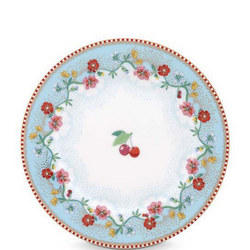 Cherry Side Plate 17cm Blue