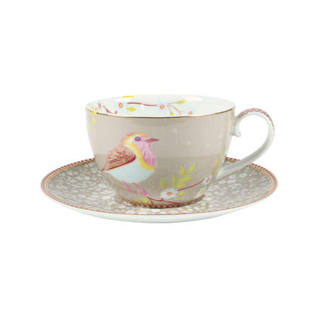 Early Bird Cup & Saucer Green