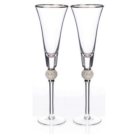 Diana Flute Pair Clear