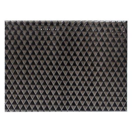 Reversible Faux Leather Placemat 2 Tone Black