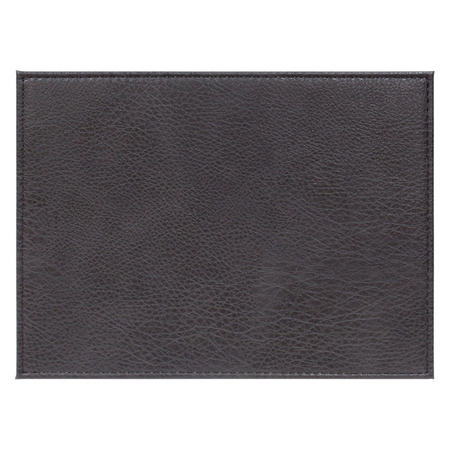 Faux Leather Place Mat Brown