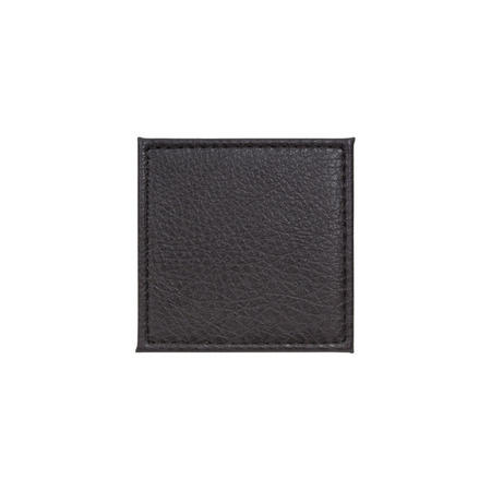 Faux Leather Coaster Brown