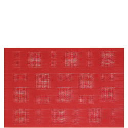 Square Design Woven Table Mat Red