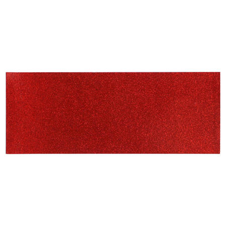 Red Glitter Table Runner Red