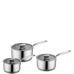 Saucepan 3 Piece Set Silver-Tone