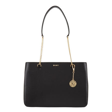 Sutton Textured Leather Shopper Bag Black