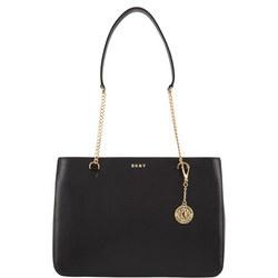 Sutton Textured Leather Shopper Bag Black