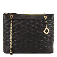 Quilted Tote MediumBlack