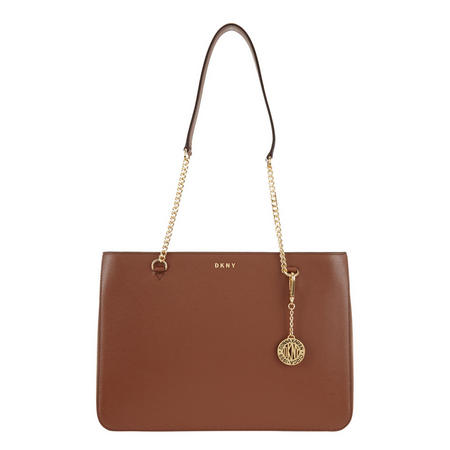 Sutton Textured Leather Shopper Bag Brown