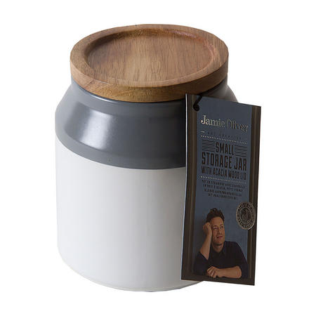 Ceramic Storage Jar Small Grey