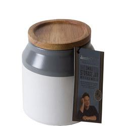 Ceramic Storage Jar Small Grey