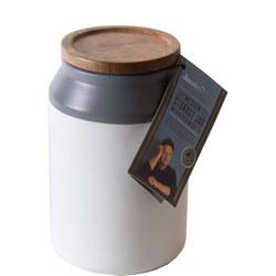 Ceramic Storage Jar Medium Grey