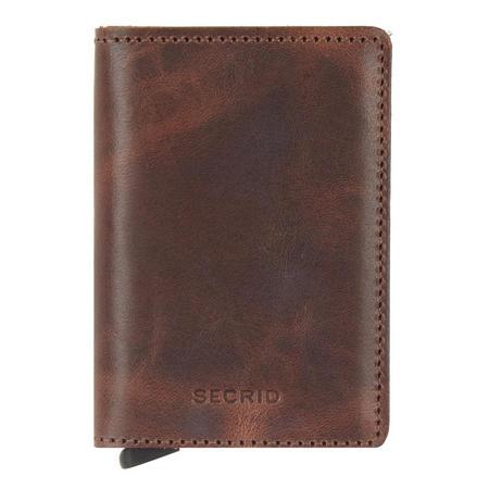 Slim Vintage Card Protector Wallet