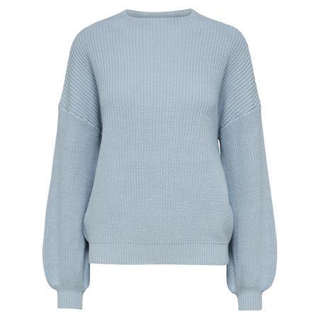 Esta Oversize Knitted Sweater Blue