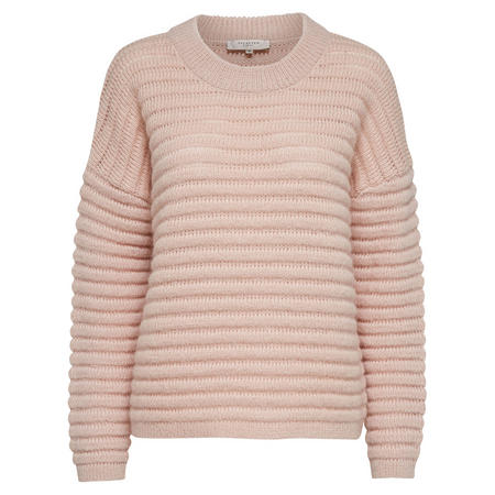 Bila Chunky Rib Knit Sweater Pink