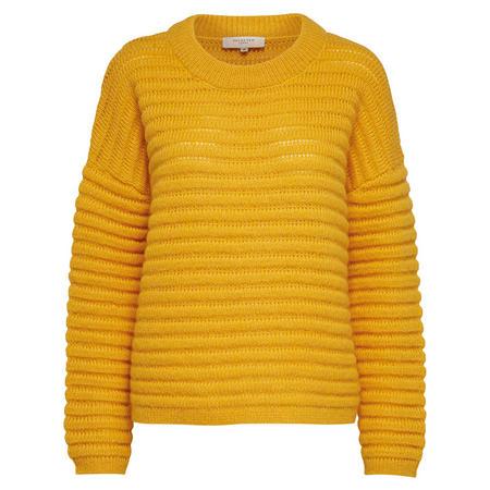 Bila Chunky Rib Knit Sweater Yellow
