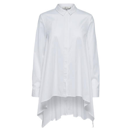 High Low Hem Shirt Blouse White