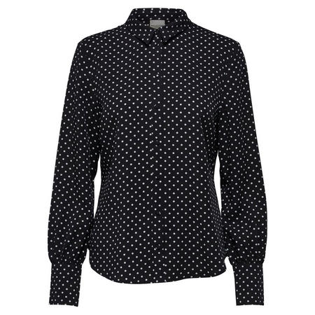 Millado Polka Dot Shirt Blouse Black