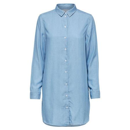 Longline Shirt Blue