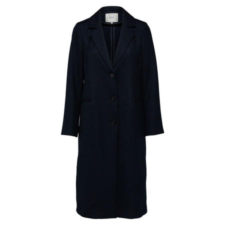 Maisa Longline Wool Coat Blue