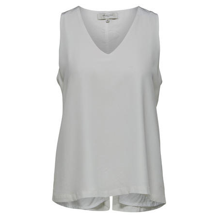 Serena Sleeveless Top White