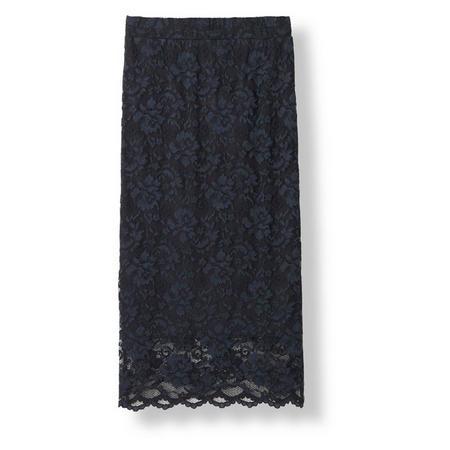Flynn Lace Skirt Navy