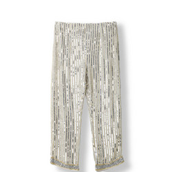 Temple Sequin Trousers White