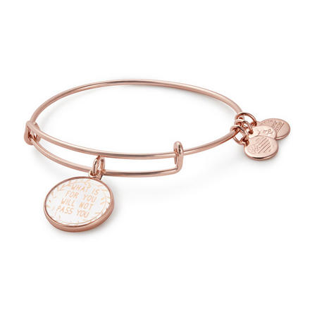 What Is for You Will Not Pass You Charm Bangle Rose