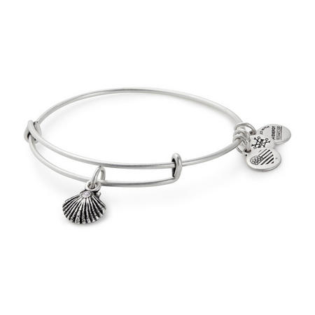 Seashell Charm Bangle Silver-Tone