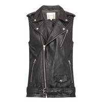 Freja Leather Gilet Black
