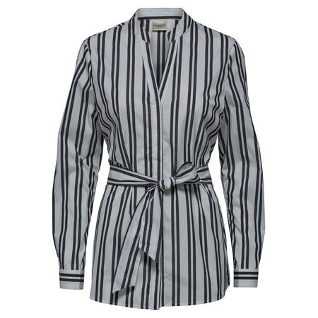 Evelyn Striped Shirt Blouse Grey