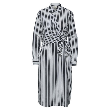 Evelyn Striped Shirt Dress Grey
