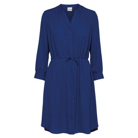 Damina Tie Waist Dress Blue