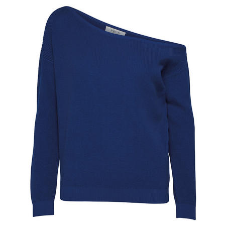 Vilma Off Shoulder Sweater Blue