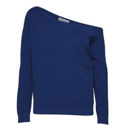 Vilma Off Shoulder Sweater Blue