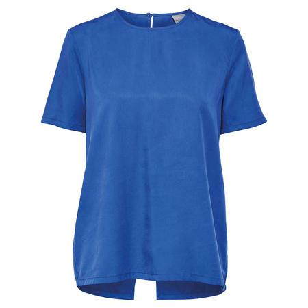 Tonia Short Sleeve Blouse Blue