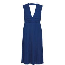 Svenja Sleeveless Empire Dress Blue