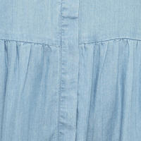 Chloe Sleeveless Denim Shirt Dress