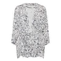 Monochrome Print Kimono